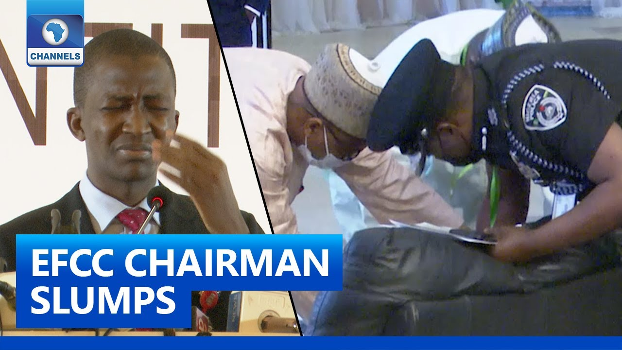 Download EFCC Chairman Abdulrasheed Bawa Slumps In Abuja