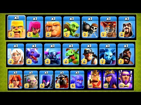 EVERY SINGLE TROOP COMPETING IN THE ULTIMATE CHALLENGE!! - Clash Of Clans