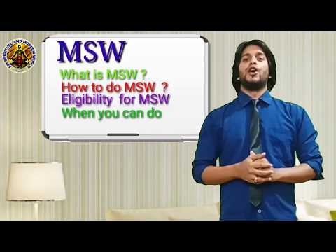 Master in Social work, MSW,  What is MSW ? Msw  subject and carrier , Details discuss
