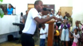 Mom in Haiti Worshiping the Lord at L'Eglise Eben-Ezer