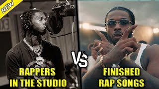 RAPPERS RECORDING IN THE STUDIO VS THE FINISHED RAP SONG