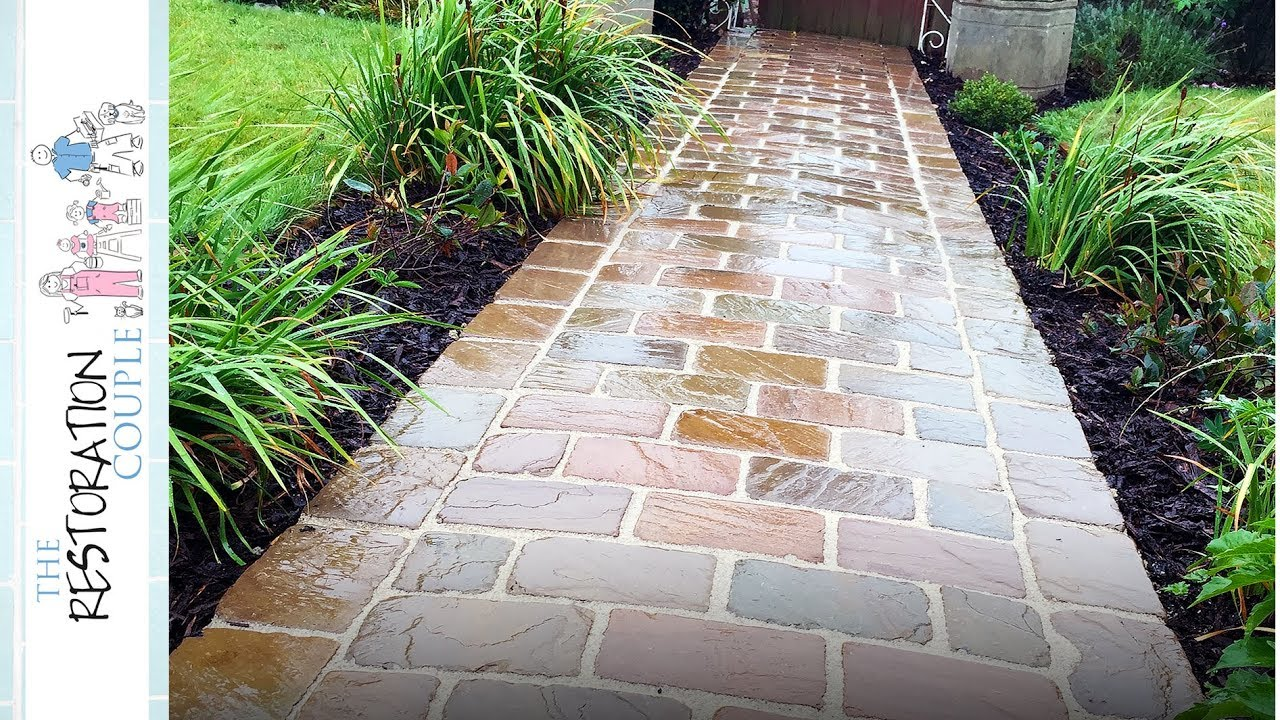Diy Natural Stone Path Complete Build Youtube