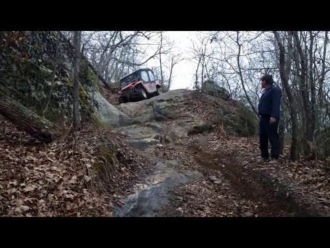 2 kawasaki teryx4 coming down I believe what is called V rock in Tackett Creek TN.