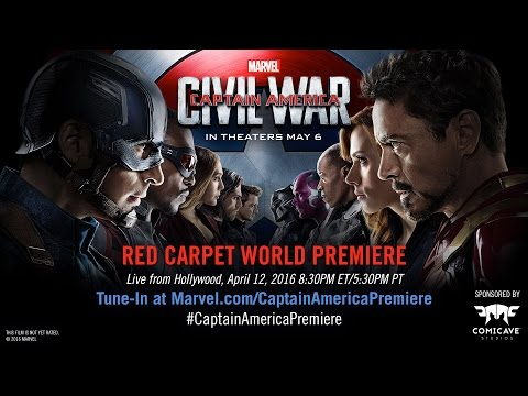 Watch the Red Carpet World Premiere of Marvel's Captain America: Civil War on Tuesday, April 12!