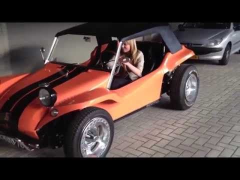 Fleur fires up my Meyers Manx dune buggy