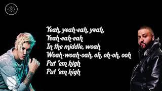 DJ Khaled - No Brainer ft. Justin Bieber, Chance the Rapper, Quavo   Lyrics On Screen