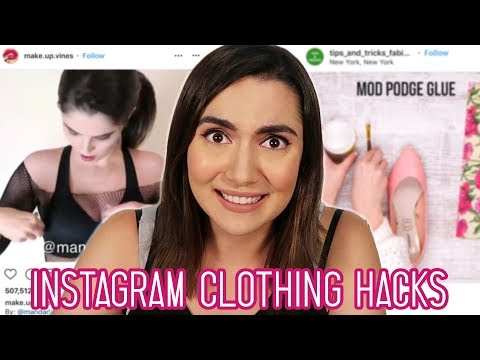 "Trying Clickbait Clothing ""Hacks"" From Instagram"