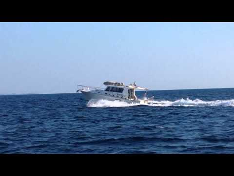 Ocean 33 Cruiser - Motor Boat for charter in Greece bareboat or skippered by www.ExadasYachts.com