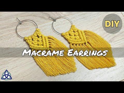 DIY | Most POPULAR Macrame Earrings on INSTAGRAM | Macrame Jewelry