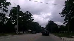 Driving Wilson Blvd from Lane Ave Jacksonville Fl Florida