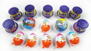Lot's of Kinder joy, Lickables, Gems suprise balls