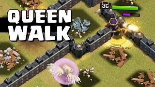 QUEEN WALK ÉPICO EM CV 10! - Clash of Clans | HEYARTHUR
