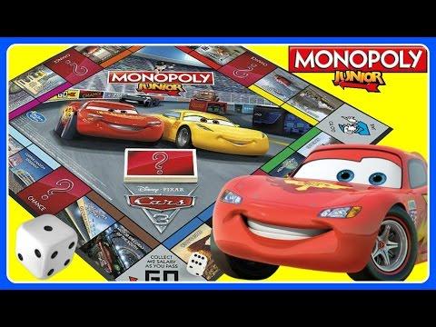 CARS 3 Disney Pixar Monopoly Junior FAMILY GAME NIGHT!  Kids Board Game FUN!  CARS 3