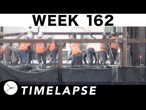 One-week construction time-lapse with closeups and sub-time-lapses scattered throughout: Week 162
