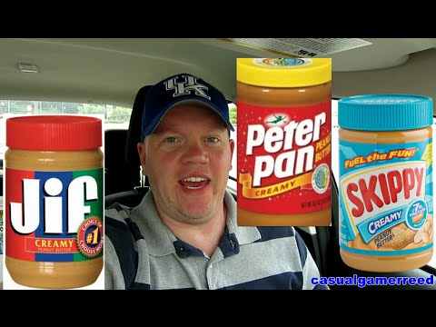 Reed Reviews Skippy vs Jif vs Peter Pan Peanut Butter Taste Test