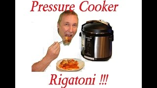 How to Cook Rigatoni Pressure Cooker Sausage + Pasta