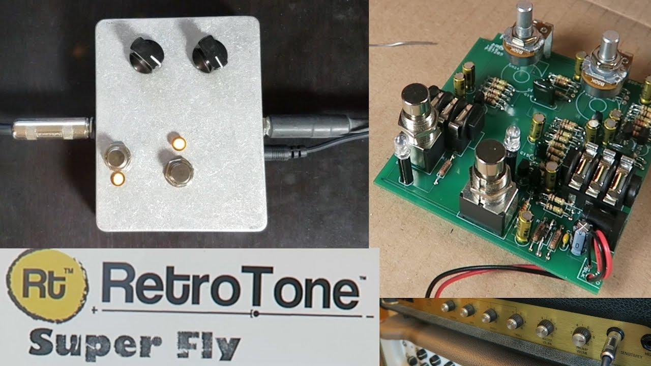 DIY Fuzz Pedal - RetroTone Super Fly (Univox Super Fuzz Clone) Univox Super Fuzz Schematic on proco rat schematic, super octave schematic, univox amp head,
