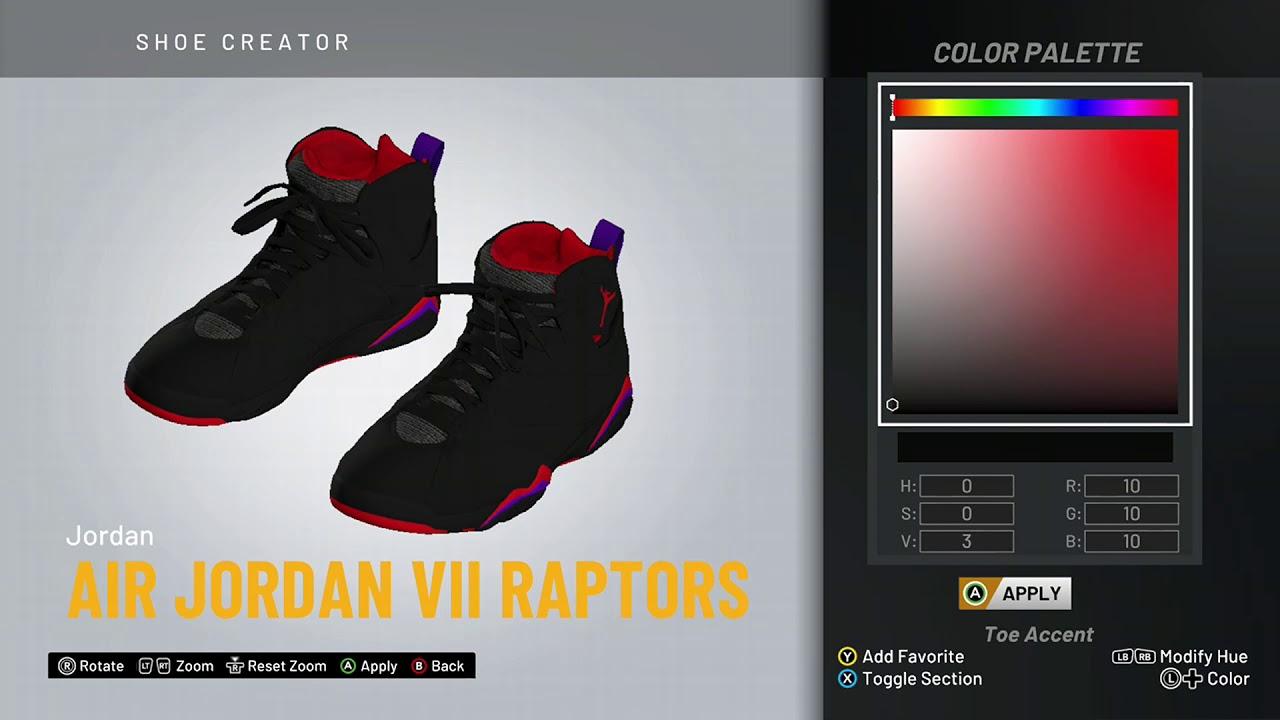 release date: 0e66c 05779 NBA 2K20 Shoe Creator - Air Jordan 7