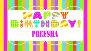 Preesha   Wishes & Mensajes - Happy Birthday