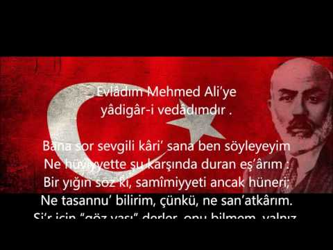 Mehmet Akif ERSOY-Safahat Okuyucusuna