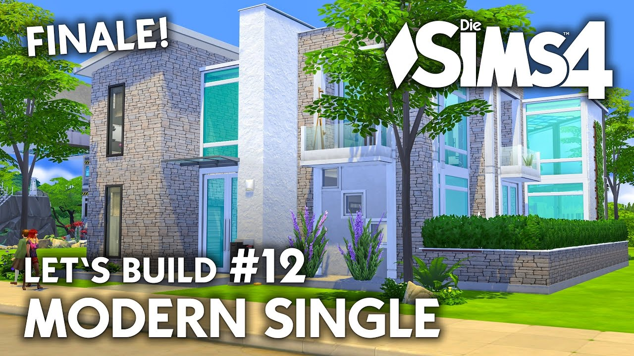 die sims 4 haus bauen modern single 12 let 39 s build. Black Bedroom Furniture Sets. Home Design Ideas