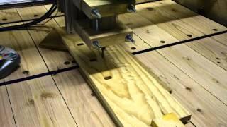 Diy Cnc Machine Cutting Hockey Themed Towel Rack