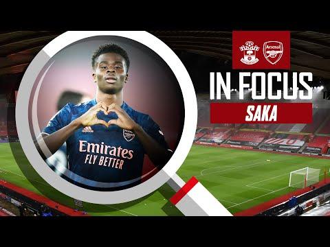 Bukayo Saka | Every Touch | Southampton 1-3 Arsenal | Premier League