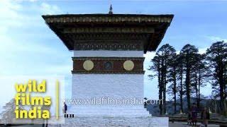 108 stupas at Dochula pass : Bhutan