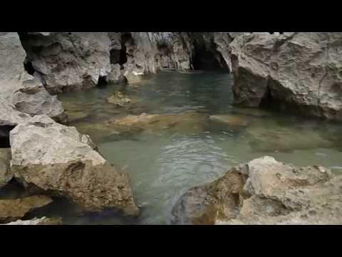 Cantabrian Sea filling up Playa de Gulpiyuri with water