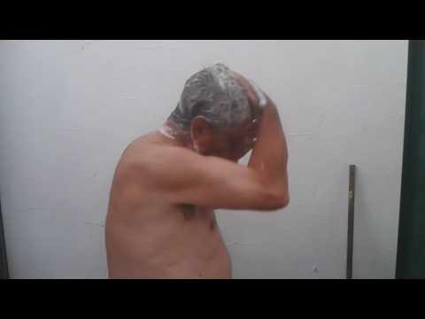 Old men shower naked