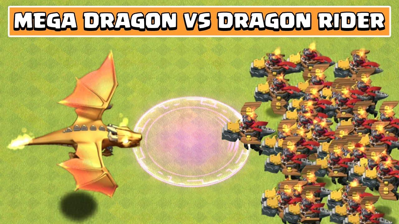 GIANT DRAGON VS DRAGON RIDER   Clash of Clans Update   Mega Dragon Vs Dragon Rider   Boss Dragon