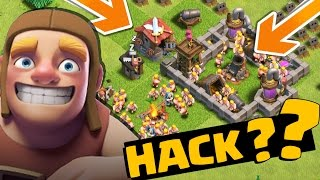 HACK??? A VILA MAIS BIZARRA DO CLASH OF CLANS