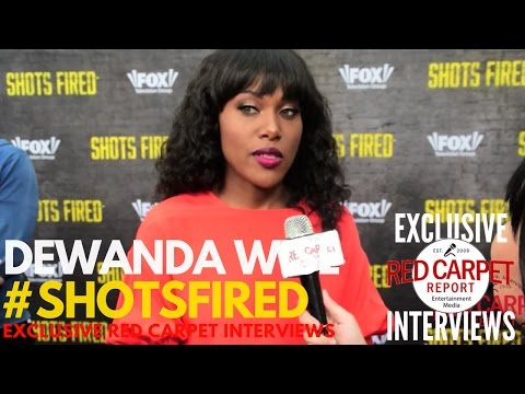 DeWanda Wise Interviewed At Shots Fired FYC Event Red Carpet #ShotsFired