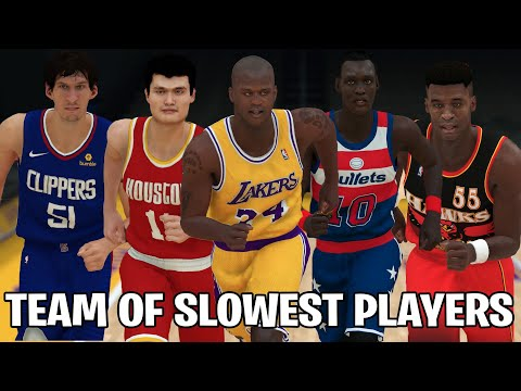 Team Of Slowest Players In NBA History!   NBA 2K19