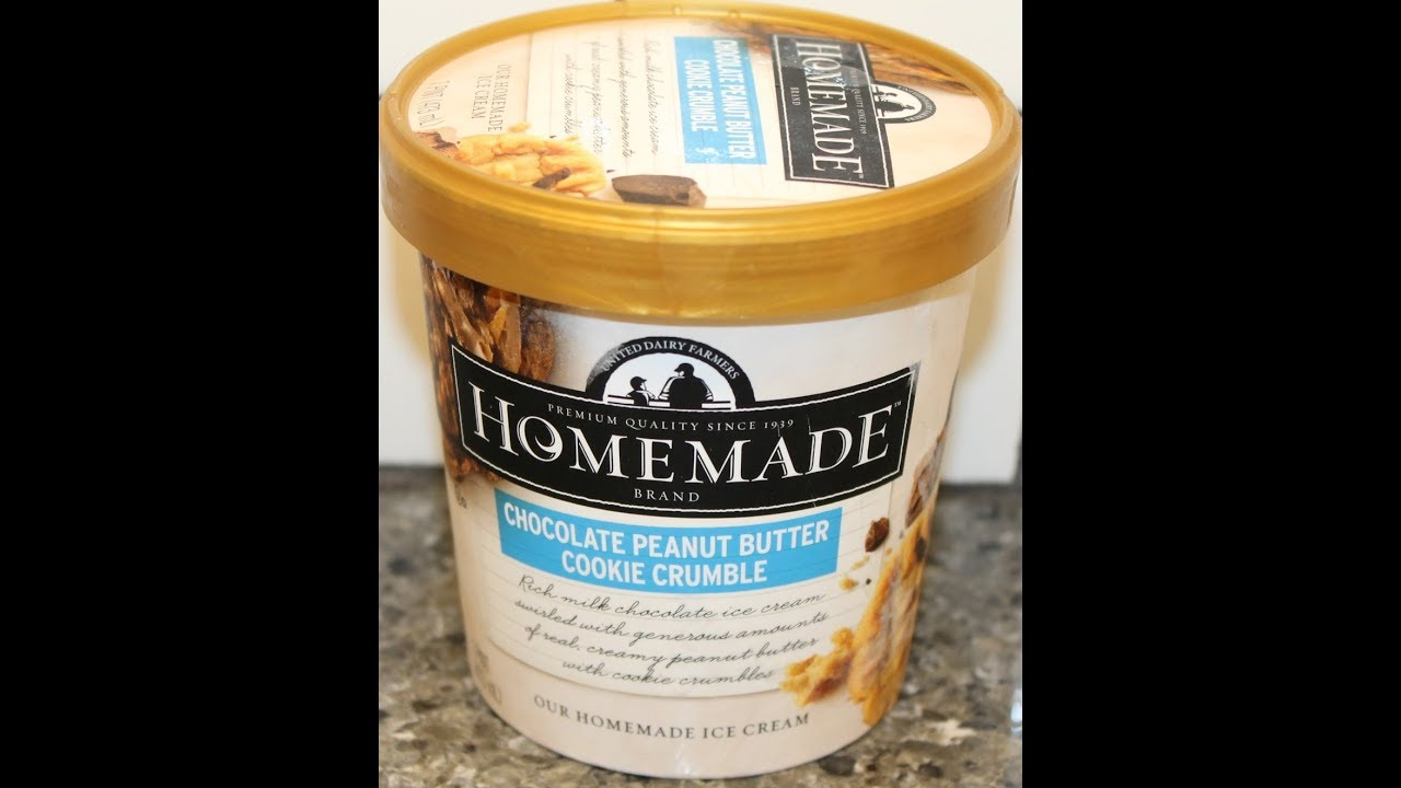 Homemade Brand Ice Cream: Chocolate Peanut Butter Cookie Crumble Review