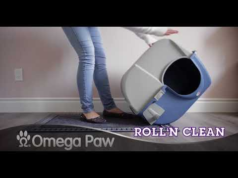 Omega Paw Roll'n Clean - The Litter Box That Cleans By Itself! Blue Model