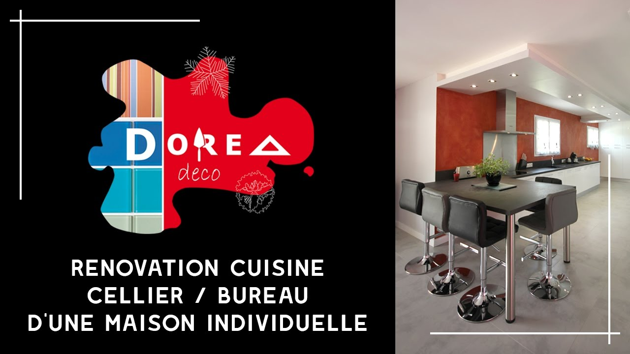 r novation et r agencement d 39 une cuisine arri re cuisine cellier et bureau par dorea d co. Black Bedroom Furniture Sets. Home Design Ideas