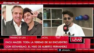 ¿hay Amor? Facu Mazzei Se Encontró Con El Hijo De Alberto Fernández