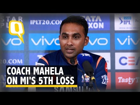 Coach Mahela Jayawardene on Mumbai's Loss to SRH | The Quint