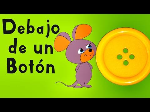 Debajo de un Botón - Canciones Infantiles - Videos para Niños - Rondas Infantiles Lunacreciente