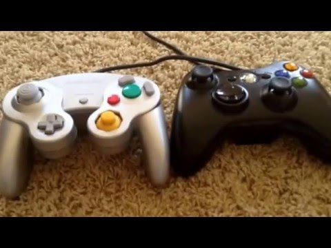 Gamecube Controller Vs Xbox 360 Controller Youtube