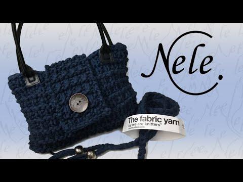 Stricken für Anfänger, einfache Tasche stricken aus Textilgarn, DIY Anleitung by Nele C.
