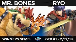 GTB #1 - Mr. Bones (Bowser) vs SPIRAL Ryo (Ike) - Winners Semis