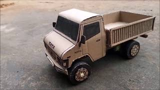 How to make an RC TRUCK at home with CARDBOARD | TATA 407 Ex