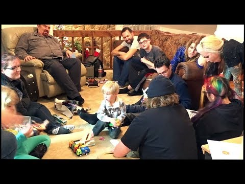 Family Christmas Party 2018! Opening Presents and Family Music Time!