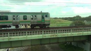 Repeat youtube video 【E233系3000番台 VS E231系】 高崎線デビュー初日の併走シーン