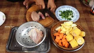 Cambodian Top Healthy Soup || Beef Soup With Mix Vegetables Country Food In My Village.