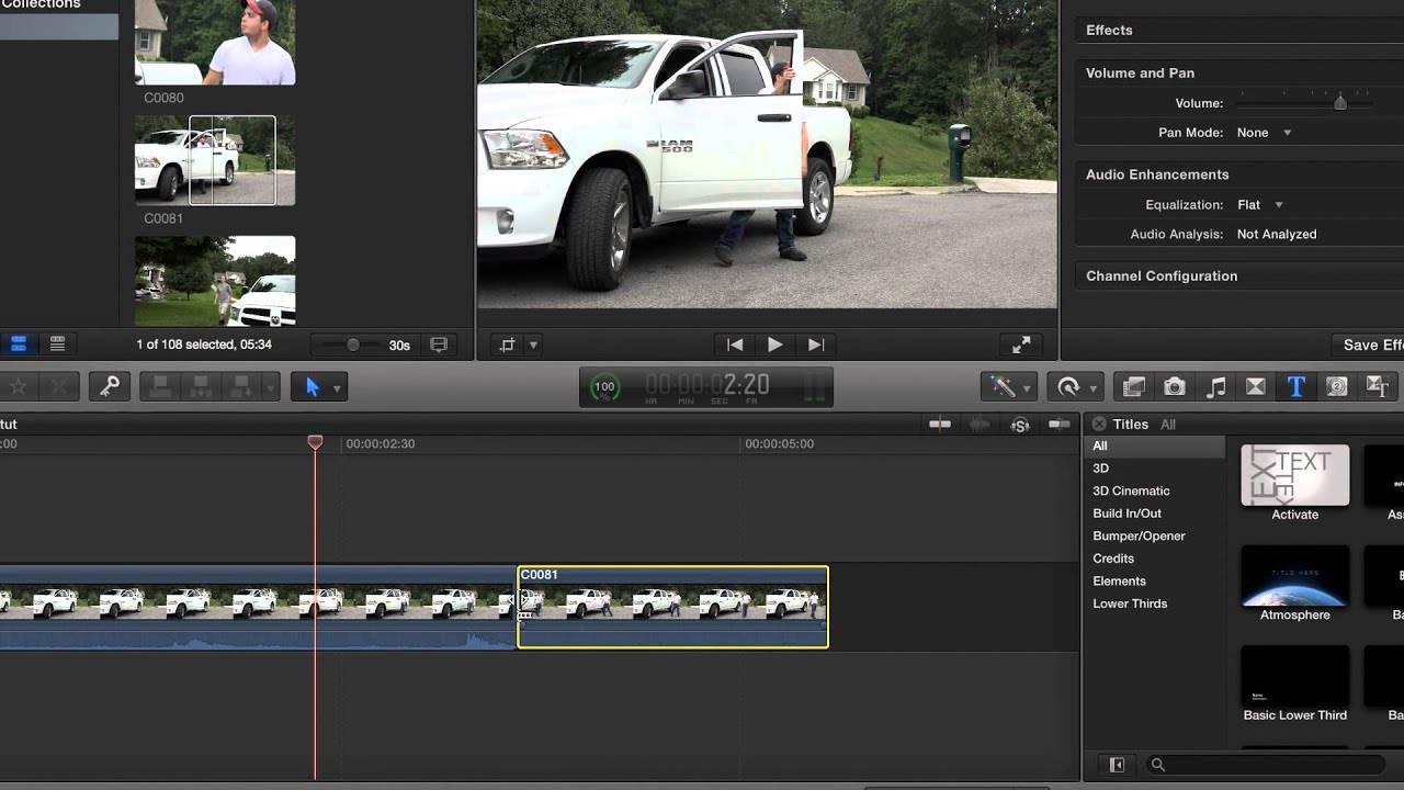 how to trim videos in final cut pro