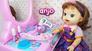 BABY ALIVE SARA COMILONA PENTEADEIRA CARINHA DE ANJO DULCE MARIA MINHA BONECA PASSANDO BATOM