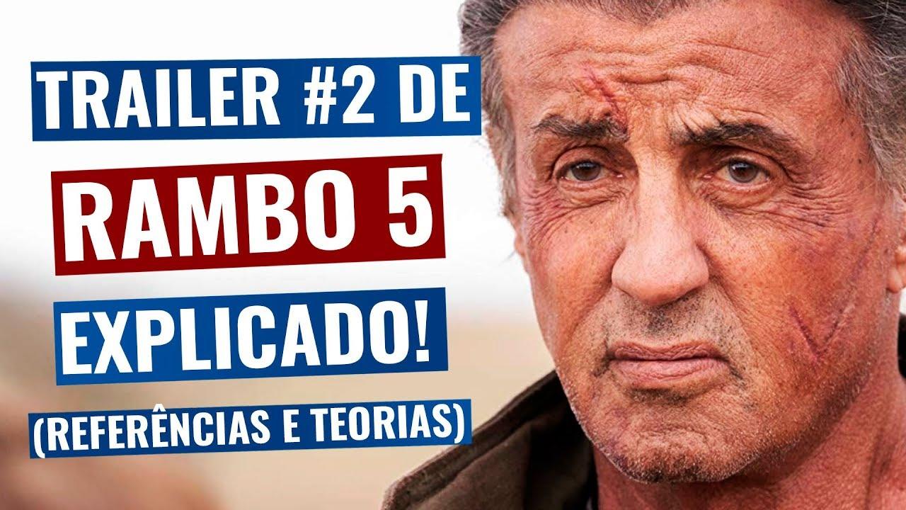 Trailer 2 de Rambo Até o Fim EXPLICADO - Análise Completa do Teaser, referências e mais! (Rambo 5)